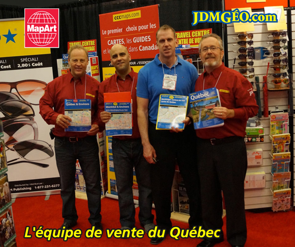 MapArt Sales Team in Quebec 2014